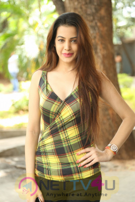 Actress Diksha Panth Beautiful Stills At Maya Mall Movie Trailer Launch Telugu Gallery