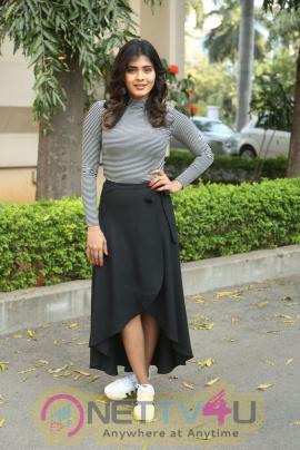 Actress Heeba Patel Lovely Images At Manyam Puli Movie Press Meet