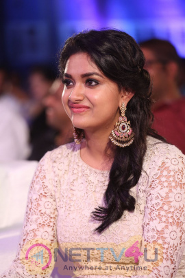 Actress Keerthy Suresh Good Looking Photos At Rail Movie Audio Launch Telugu Gallery