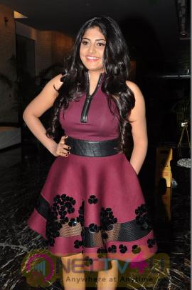 Actress Manjima Mohan Lovely Photos At Sahasam Swasaga Sagipo Movie Audio Launch