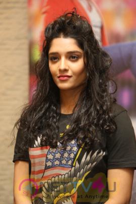 Actress Ritika Singh Stylish Pics At Shivalinga Movie Press Meet
