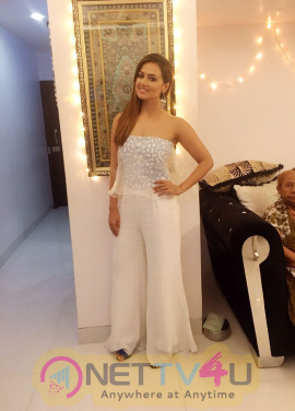 Actress Sana Khan's Birthday Celebration Stills Hindi Gallery