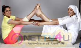 Actress Sofia Hayat Gaia Mother Sofia Did Yoga Photo Shoot Images