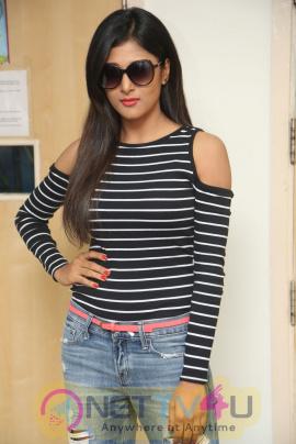 Actress Sushma Raj Beautiful Stills At Edu Gold Ehe Movie Team At Radio City