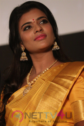 Aishwarya Rajesh Saree Images At Dharma Durai Audio Launch