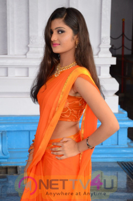 Actress Akshitha Beautiful Stills At Prayanam Movie Launch