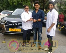 Allu Aravind Gifts New Audi Car To Allu Sirish For Dussehra Festival Still Telugu Gallery