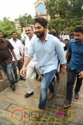 Allu Arjun And Allu Ayaan Participated In Haritha Haram Event Dazzling Photos Telugu Gallery