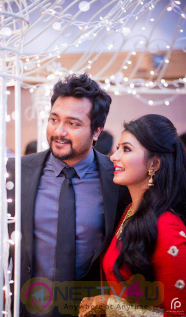 Actor Bobby Simha Actress Reshmi Reception Exclusive Photos  Tamil Gallery
