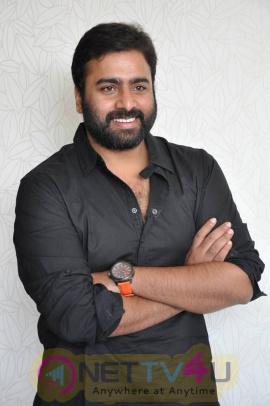 actor nara rohith latest stills at asura movie press meet