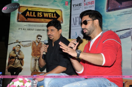 actor s abhishek bachchan s all is well movie press meet