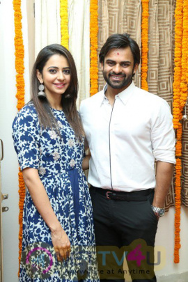 Actor Sai Dharam Tej & Gopichand Malineni Movie Opening Cute Images Telugu Gallery
