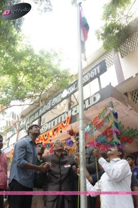 actor vishal s independence day celebration at thiru vi
