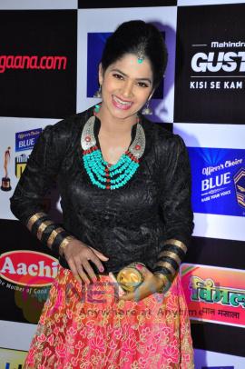 actress madhumitha at mirchi music awards 2014 red carpet stills 12