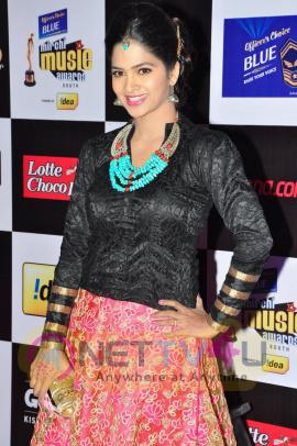 actress madhumitha at mirchi music awards 2014 red carpet stills 14
