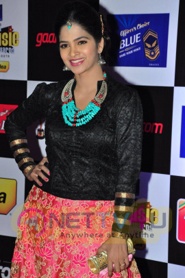 actress madhumitha at mirchi music awards 2014 red carpet stills 15