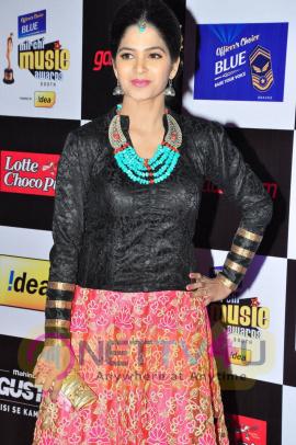 actress madhumitha at mirchi music awards 2014 red carpet stills 18
