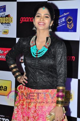 actress madhumitha at mirchi music awards 2014 red carpet stills 21
