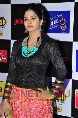 actress madhumitha at mirchi music awards 2014 red carpet stills 22