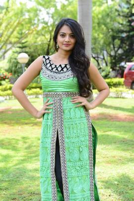 Actress Nikitha Narayan At Mellaga Tattindi Manasu Talupu Trailer Launch Stills