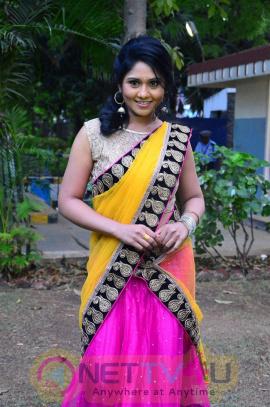 Actress Punnagai Poo Geetha In Kaval Press Meet Stills