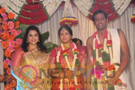 actress sangavi n venkatesh wedding stills