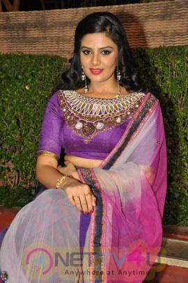 Actress Srimukhi In Dhanalakshmi Talupu Tadithey Movie Audio Launch Stills