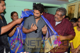 Allu Arjun At Noor Mahamood House Visit Photos  Telugu Gallery