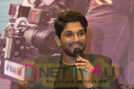 Allu Arjun At Sarrainodu Movie Press Meet In Bangalore Stills Telugu Gallery