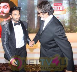 Amitabh Bachchan, Aishwarya Rai Bachchan, Ranveer Singh, Isha Ambani, Sonam Kapoor, Kumar Mangalam Birla Attend The Hello! Hall