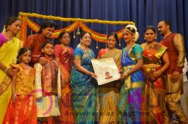 Bharathanatya Award Of Thrinethra Gowri Shankar Beautiful Images Tamil Gallery