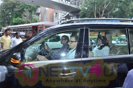 Boney Kapoor & Sunil Pal At Funeral For Arjun Kapoor Grand Mother Exclusive Photos