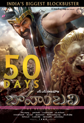 bahubali movie 7th week success poster