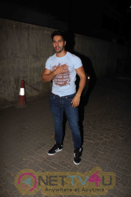 Bollywood Stars At Varun Dhawan Birthday Celebration Stills Hindi Gallery