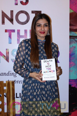 Death Is Not The Answer Book Launch At Raveena Tandon, Shabana Azmi & Suresh Oberoi Cute Stills Hindi Gallery