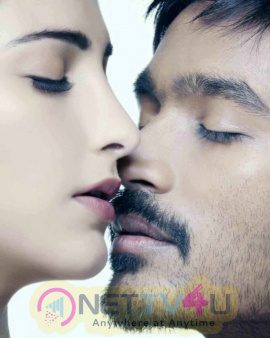 Dhanush And  Sruthi Hasaan Romantic Images In Three Movie Tamil Gallery