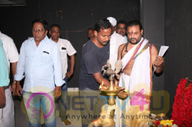 Director Ezhil & Actor Udhayanidhi Stalin Upcoming Project Pooja Stills Tamil Gallery