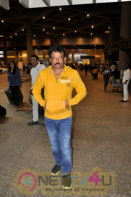 Director Ram Gopal Varma Spotted At Airport Extraordinary Photos