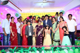 director boyapati seenu s kids harshit and joshitha birthday stills