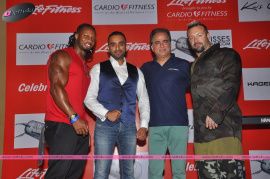 event on cardio fitness   press meet with fitness gurus around the world