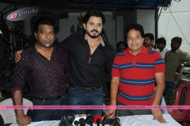 former indian cricketer sreesanth movie press meet photos