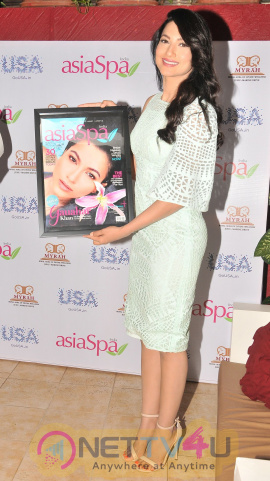 Gauhar Khan At The Cover Launch Of Asia Spa Magazine Elegant Photos