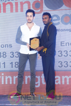 Hero Akhil For Winning Teams Quiz Competition Magazine And Trophy Launch In Taj Gateway