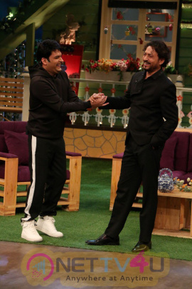 Irrfan Khan And Jimmy Shergill On The Sets Of The Kapil Sharma Show Attractive Stills