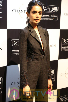 Kangana Ranaut During The Unveiling Chandon X McLaren Honda Installation Stills Hindi Gallery