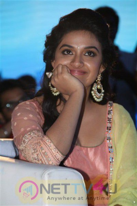 Keerty Suresh Beauteous Stills At Remo Logo Launch