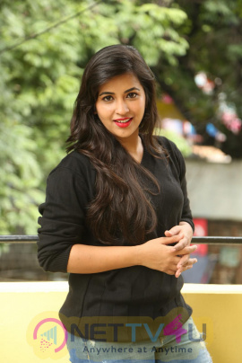 Komali Stylish Pics At Nenu Seethadevi Press Meet