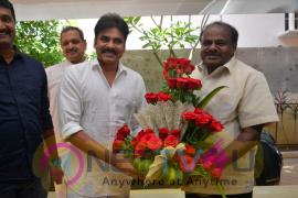 Kumaraswamy Invites Pawan Kalyan For His Son's Jaguar Audio Launch Photos Telugu Gallery