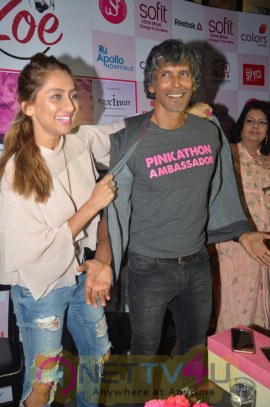 Launch Of 5th Edition Of Pinkathon Mumbai With Milind Soman Function Photos