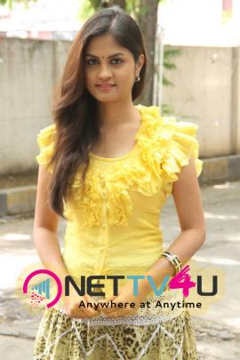 Latest Images Of Actress Aashritha At Orange Mittai Press Meet